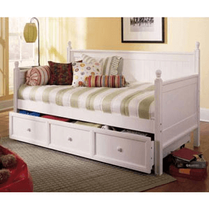 Solid Wood Casey White Daybed B50C43(LP)