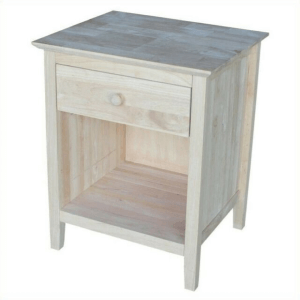 Solid Wood Unfinished Nightstand with 1 Drawer BD-8001(ICFS)