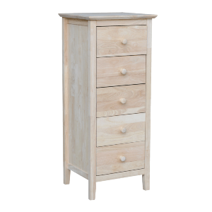 Solid Wood Unfinished Lingerie Chest with 5 Drawers BD-8015(ICFS)
