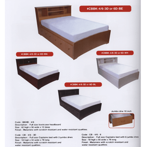 Queen Size Captains Bed With Jumbo Drawers CBBK-5/0_(WPFS100