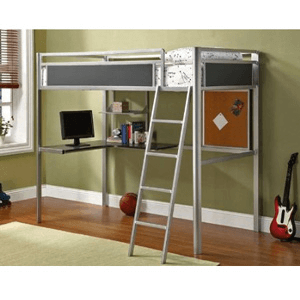 Alexa Twin Size Loft Bed Workstation CM-BK1135(IEM)