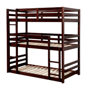 California V Three Layer Twin Bunk Bed (Multiple Colors)