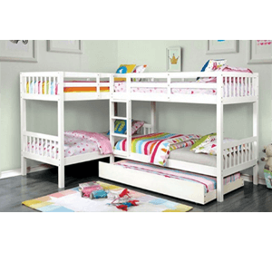 Marquette Quadruple Twin Bunk Bed (Multiple Colors)