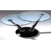 Black Coffee Table With Glass Top CT313B (PK)