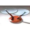 Cherry Coffee Table With Glass Top CT313C (PK)