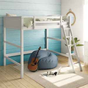 Full Size Wooden Loft Bed (Multiple Colors)(250 Lbs Weight Capacity)