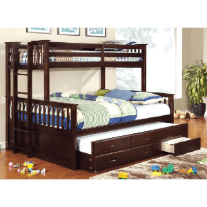 Rola Mission Twin Xl/Queen Bunk Bed with Trundle (450 Lbs Weight Capacity)