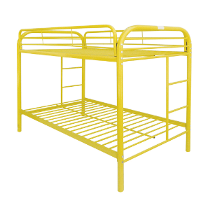 Acme Eclipse Twin Over Twin Metal Bunk Bed (Multiple Colors)
