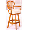 Swivel Bar Stool In Oak Finish F4124 (PX)