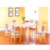 5 Pcs Solid Wood Dinette Set F5444/F5507(TMC)
