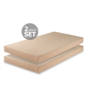 Set Of Two Memory Foam 5 Inch Twin Mattress FMS-5T-2PC(AZFS)