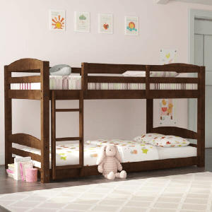 Phoenix Solid Wood Twin over Twin Floor Bunk Bed (Multiple Colors)