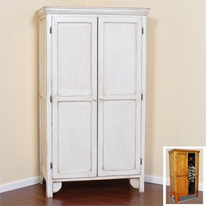 Solid Wood Wardrobe with Panel Doors GR36-P(GC)