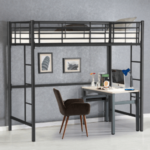 Gymax Twin Loft Bed Metal (Weight Capacity 330lbs)