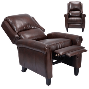 Leather Recliner Push Back w/ Leg Rests HW52028(WFS)