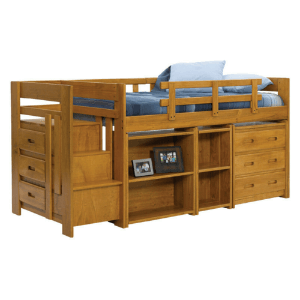 Solid Wood Heartland Mini Stair Loft Bed (WCFS)