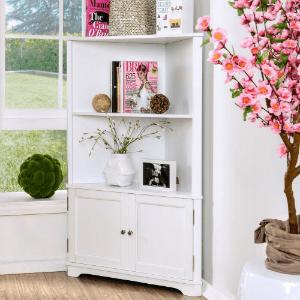 Corner Bookshelf with Cabinet IDF-AC807(OFS)