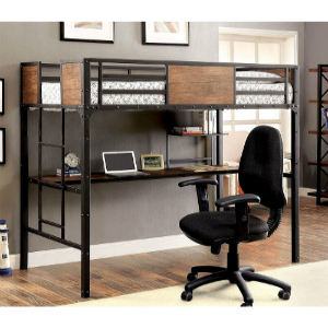 Markain Industrial Metal Loft Bed with Workstation IDF-BK029TD(FAFS)