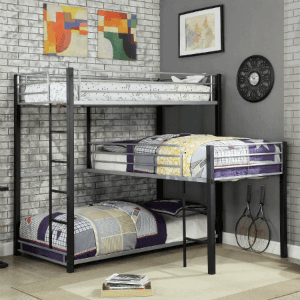Triple Decker L-Shaped Bunk Bed IDF-BK919(OFS)