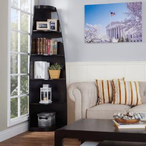 Arctic Sleek Corner Display Stand/Bookcase IDI1360118(HYFS)