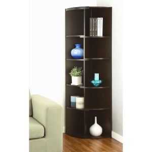 Chronos Expandable Duotone Corner Display Stand/Bookcase IDI13620(HYFS)