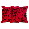 Red Abstract Decorative Pillow ( Set of 2 ) 14334751(OFS40)