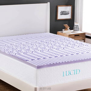 LUCID 2-inch 5-Zone Lavender Memory Foam Mattress Topper
