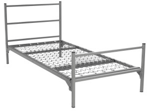 Military Style Metal Single Bunkable Bed Square Tube (400 Lbs Weight Capacity)