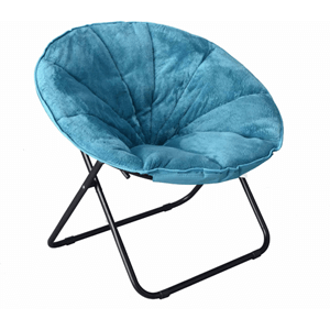 Mainstays Plush Saucer Chair (Weight Capacity 225 lbs)