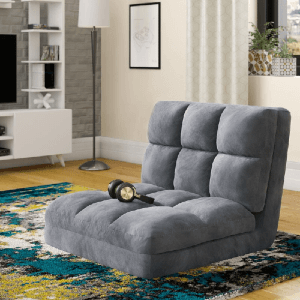 Micro-Suede 5 Position Adjustable Convertible Flip Floor Game Chair (220 Lbs Weight Capacity)