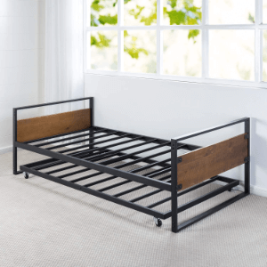 Twin High Rise Daybed and Trundle Frame Set OLB-IRDBS-39(AZFS)