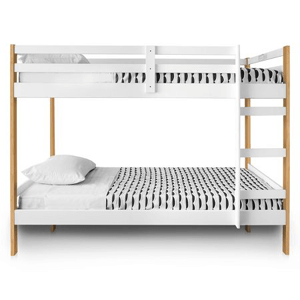 Solid Wood Letto Bunk Bed Multiple Colors (200 lbs Weight Capacity)