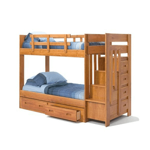 Solid Wood Staircase With Bunk Bed STH-154R(WC)