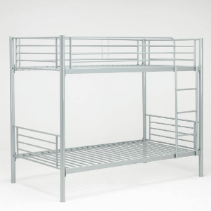 Twin Over Twin Size Metal Bunk Bed Frame with Ladder (440 Lbs Weight Capacity)TWT-116(AZFS)
