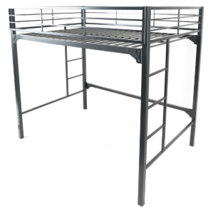 Commercial Grade Metal Loft Bed (375 Lbs Weight Capacity)