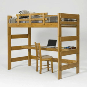 Heartland Honey Loft Bed with Desk LD-1000(WC)