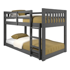 Solid Wood Low Platform Twin Over Twin Bunk Bed (Multiple Colors)(250 Weight Capacity)