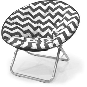 Mainstays Plush Chevron Saucer Chair (225 lb Weight Capacity)
