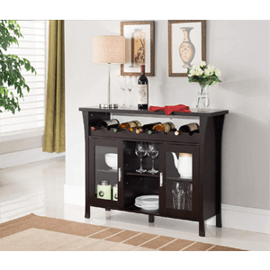 Wine Rack Buffet Server Console Table