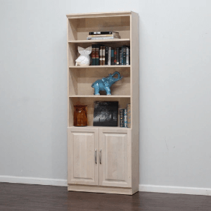 Solid Wood Bookcase With Raised Panel 12 x 32 x 84