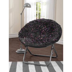 In The Zone Spiker Faux Fur Saucer Chair (225 Lb Weight Capacity)