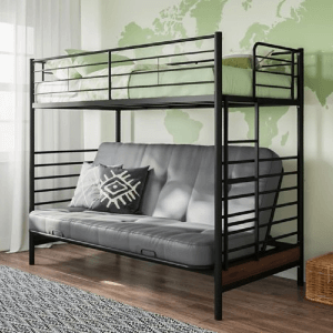In The Zone Twin Loft Bed with Futon