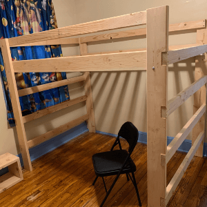 The Brute Solid Wood Adult Loft Bed 1000 Lbs Wt. Capacity (USM)