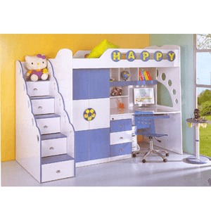 Twin Size Soccer Theme Loft Bed C10(PF)