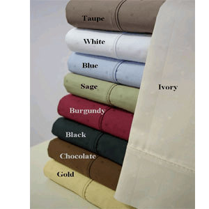 Egyptian Cotton Sheet Set With Woven Dots (RPT)