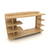 43 In. Straight Hutch HTB-110_ (LF)