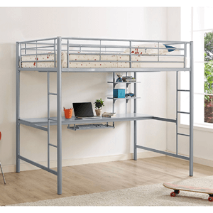 Premium Metal Full Size Loft Bed with Work Workstation (250 lbs Weight Capacity)