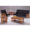 Oak Finish Mission Futon Set 6227
