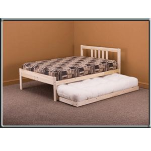 Solid Wood Trundle For  Bed 7903(KDFS)(300 Lbs Weight Capacity)
