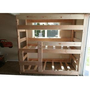 The Premier Solid Wood Adult Triple Bunk Bed (USM)